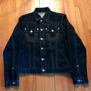 True Religion Button Up Dark Jean Jacket Size XXL